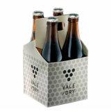 Cusotm imprimió el rectángulo de la botella de cerveza de 4 paquetes