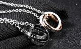 方法カップルの宝石類316Lのステンレス鋼のローズの金の黒の恋人のNecklace&Pendantsの最もよい恋人のギフトの女性の人の宝石類