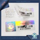 機密保護番号印刷のホログラムのタンパーの明白な無効のラベル