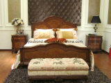 0051 왕 고아한 작풍 단단한 나무 색칠 침대 룸 수집