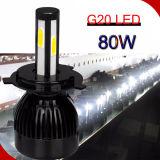 Fácil de Guangzhou Auto Accesorios S2 G20 X3 X1 C6 G5 9005 Nuevo LED 80W 8000LM Wholesale Auto Parts faros LED