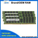 726722-B21 32GB 2rx4 1.2V Reg Ecc DDR4 서버 렘