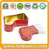 クリスマスのストッキングの形の金属の錫の箱のギフト用の箱の記憶の錫
