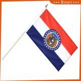 판매를 위한 폴리에스테에 의하여 인쇄되는 주문 소형 동포 미국 손 물결치는 깃발