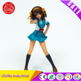Figura comica di plastica del fumetto della ragazza dell'uniforme scolastico