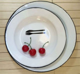 Plaques campantes d'émail de jeux de dîner d'Enamelware