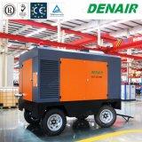 compressor de ar Diesel móvel portátil lubrificado da movimentação da mina 25bar para equipamento Drilling