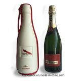 Caja de cuero del rectángulo del vino de la botella de la PU sola/del vino