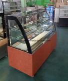 Oficina de panificação da curva de Aço Inoxidável bolo comercial do refrigerador do Visor de Vidro