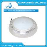 Resina llena de luz empotrada blanco recargable de la piscina de la lámpara de la piscina