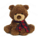 채워지는 2018 고명한 귀여운 브라운 및 견면 벨벳 장난감 곰