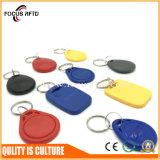 precio de fábrica 125kHz EM/TK4100/F08 ABS de llavero RFID para Control de acceso y la hora de la asistencia