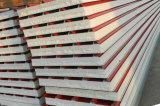 el panel de emparedado de 75m m PU/EPS/Rockwool/Glasswool para la azotea/la pared