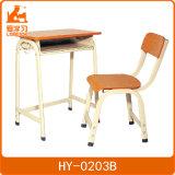 금속 프레임 나무로 되는 최고 단 하나 책상과 의자 가구 학교 학생 연구 결과 의자와 테이블