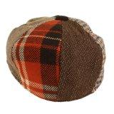 Casquillo Herringbone del vendedor de periódicos de las lanas de las telas escocesas del programa piloto de los paneles que empalma