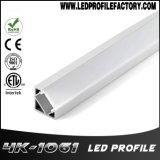 코너 알루미늄 단면도 LED 지구 빛