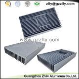 Disipador de calor de la fundición de aluminio de la superficie de la talla/radiador modificados para requisitos particulares de la protuberancia