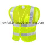 Сетка для лучшей видимости Майка светоотражающие куртка с короткими гильзы