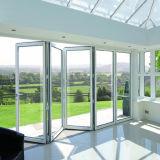 집 디자인 강화 유리 알루미늄 문 유리제 접게된 문