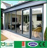 Pliage en aluminium en verre de taille normale/porte Bifold/porte de Bifolding