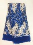 2018nueva llegada de la moda de tela de encaje bordado