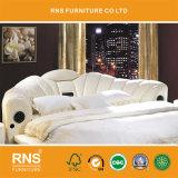 9#-1round 침대 둥근 침대 고품질 현대 침실 가죽 둥근 침대