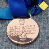 Fabrication de tir sportif de bonne qualité de l'émail Fiesta Médaille en alliage de zinc