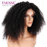 El cabello humano de alta densidad de delantera de encaje peluca rizada de Malasia