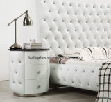 Chesterfield 고전적인 침대 머리 현대 가죽 침실 침대