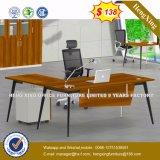 贅沢なメラミン木のテーブルの上の執行部の机(HX-8N0486)