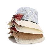 Venta al por mayor de calientes personalizados de papel de los niños de Fedora Sombrero Sombrero de Paja Beach