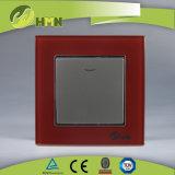 Modo certificato del gruppo 1 del vetro temperato 1 di standard europeo dei CB del CE di TUV con l'interruttore VERDE della parete del LED