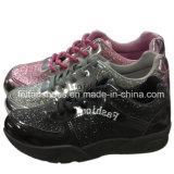 Подгонянные ботинки PU повелительницы Тапки Спорта Ботинка Впрыски Hotsale (YJ1216-5)
