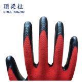 ладони нитрила черноты вкладыша полиэфира 13G перчатки красной Coated