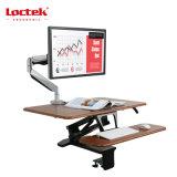 """Loctek 31 """" 넓은 플래트홈 고도 조정가능한 서 있는 책상 라이저는, 앉 서 있다 워크 스테이션, 검정 (MT103M)를"""