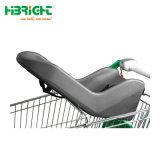 Supermarkt-Einzelhandelsgeschäft Comvenient Einkaufen-Laufkatze mit weichem Baby-Sitz