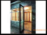 Pnoc080232lsの内部デザイン緩和されたガラスが付いているアルミニウム開き窓のドア