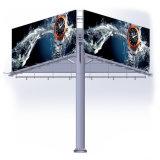 Três lados da estrutura de aço painéis de publicidade exterior