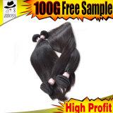 Продукты человеческих волос естественного цвета малайзийские