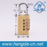 Yh1229 cadenas de sécurité à 4 chiffres de cadenas en laiton de combinaison réinitialisable