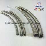 Mangueira de metal trançado de aço inoxidável revestido a PTFE tubo tubo de borracha do tubo de borracha de Teflon a mangueira de vapor