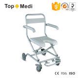 Kleine u-Form-Sitzbad-Dusche arbeitsunfähiger Stuhl mit Rädern für älteres und behindertes