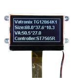 128X64コグLEDのバックライトが付いている図形LCDの表示画面