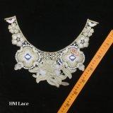 32*26cm Golden Bib Déclaration Necklace, Bow Collier, pierres blanches, d'or, un grand collier de la Bohème, Big Necklace hme921