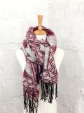 標準的な編まれた冬の幾何学の印刷のショールのスカーフ(SP309)のような女性のカシミヤ織
