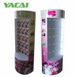 Skincare Pappbildschirmanzeige, die mit Haken, kosmetische Pappsupermarkt-Bildschirmanzeige steht
