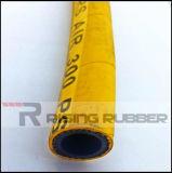 Aire a alta presión mangueras de goma con superficie lisa superficie envuelto/
