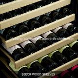 """24 """" costruito nel dispositivo di raffreddamento di vino, portello di vetro nell'ambito del contatore con Hingle di sinistra"""