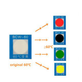Da cor sensível do aquecimento da monitoração de temperatura etiqueta em mudança
