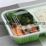 Serviço de comida de plástico transparente se biodegradar os recipientes com tampa transparente